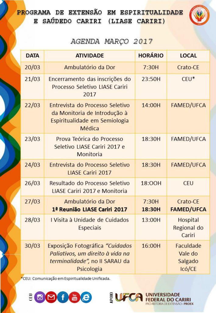 Venha participar das atividades da LIASE Cariri!!!
